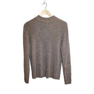 3/$45 - Karen Scott Ribbed Knit Mock Neck Sweater